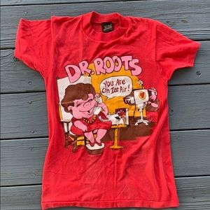 Vintage 1980s dr roots red graphic T-shirt